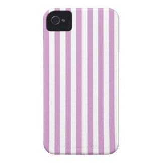 Rayures minces - blanches et orchidée moyenne coques iPhone 4