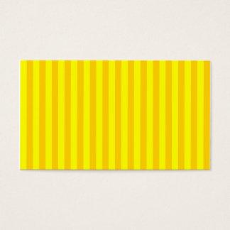 Rayures minces - jaunes et jaune foncé cartes de visite