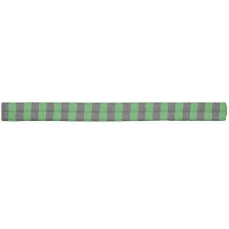 Rayures minces - noir et vert élastique pour cheveux
