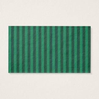 Rayures minces - vertes et vert-foncé cartes de visite