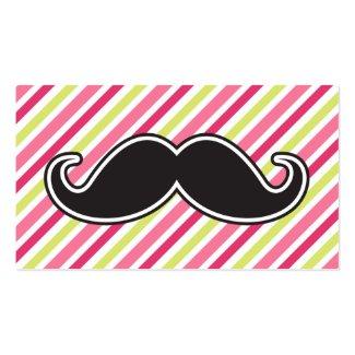 Rayures noires de vert de chaux de rose de moustac modèles de cartes de visite