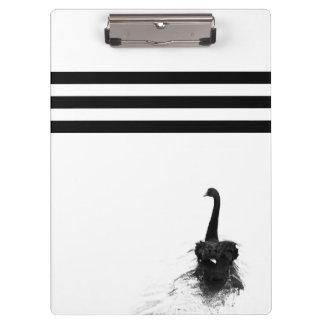 Rayures noires et blanches de cygne noir élégant