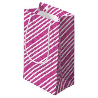 Rayures roses - approvisionnement de partie petit sac cadeau