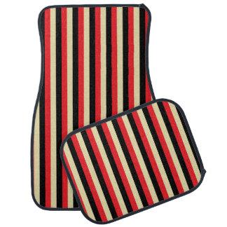 Rayures rouges, beiges et noires verticales tapis de voiture