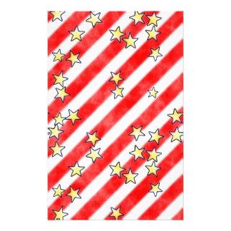 Rayures rouges et blanches avec le papier d'album papeterie