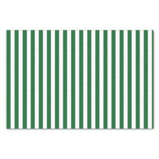 Rayures vertes et blanches verticales papier mousseline