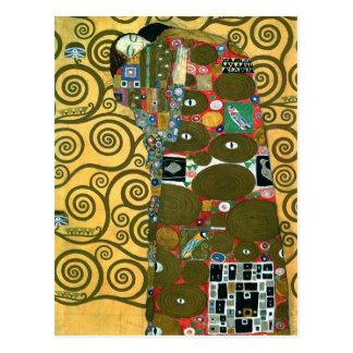 Réalisation aka l'étreinte par Gustav Klimt Carte Postale