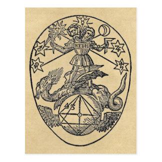 Rebis - carte postale de sépia de dualité