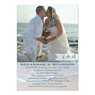 Réception de faire-part de mariage de photo de