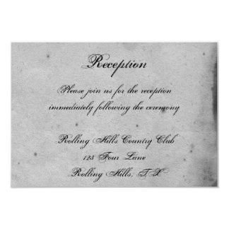 Réception de mariage snob de dentelle gothique carton d'invitation 8,89 cm x 12,70 cm