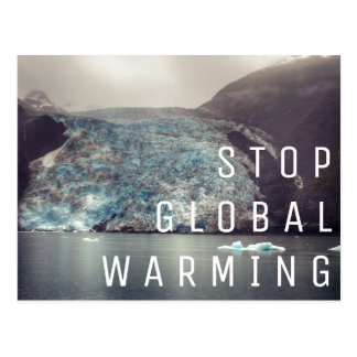 Réchauffement climatique d'arrêt - carte postale