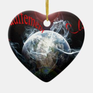 Réchauffement climatique ornement cœur en céramique
