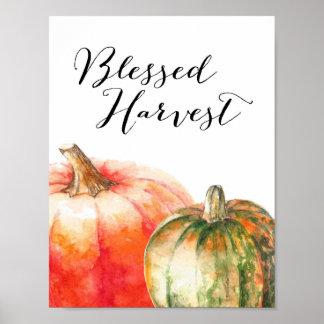 Récolte bénie - affiche de thanksgiving poster