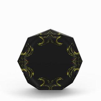 Récompense ardente jaune et noire d'arrière - plan