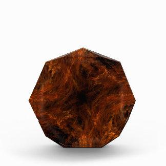 Récompense ardente orange et noire d'arrière -