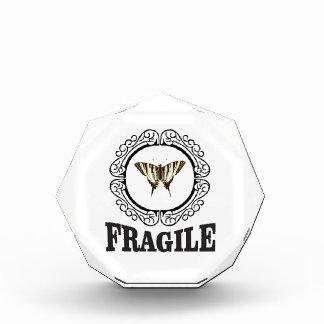 Récompense Autocollant fragile de papillon