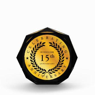 Récompense Célébration du 15ème anniversaire. Personnalisable