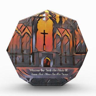 Récompense Citation inspirée de croix artistique de