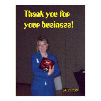 récompense de gain, Merci pour vos affaires ! Cartes Postales