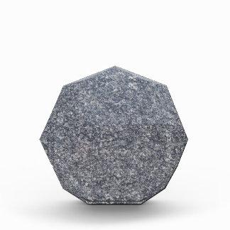 Récompense de marbre noire et grise d'arrière -