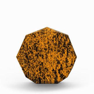 Récompense de marbre orange et noire d'arrière -