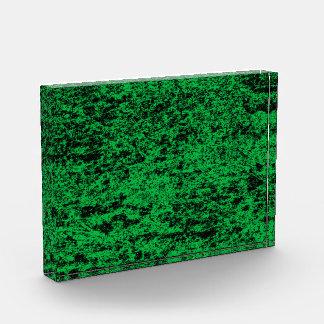 Récompense de marbre verte et noire d'arrière -