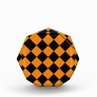 Récompense Diag Checkered - noir et mandarine