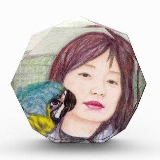 Récompense Fille asiatique de femme de dame de beauté