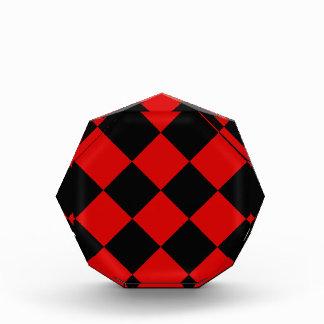 Récompense Grand Checkered de Diag - noir et Rosso Corsa