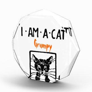 Récompense grincheuse de chat noir pour M. ou Mme