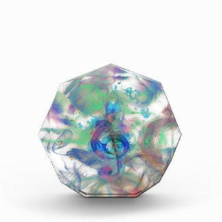 Récompense La musique colorée fraîche note l'image d'effets d