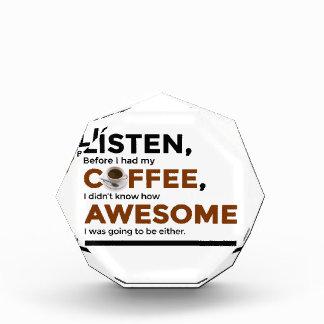 Récompense Le café de boissons soit impressionnant