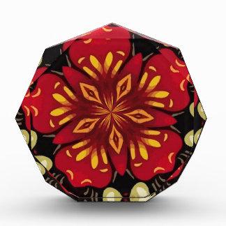 Récompense Mandala tropical de fleurs et de papillons