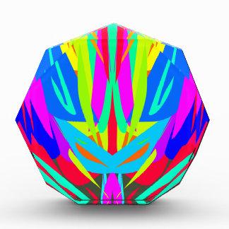 Récompense Motif abstrait symétrique de fête lumineux