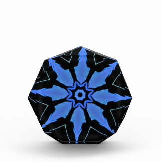 Récompense Motif en forme d'étoile bleu au néon lumineux