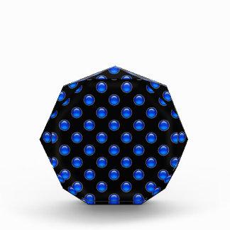 Récompense Noir rougeoyant bleu de bulles