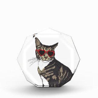 Récompense Verres de port de coeur de chat