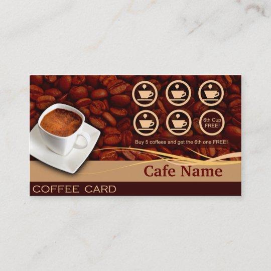 Recompenses De Cafe Et Carte Visite