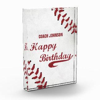 Récompenses En Acrylique Base-ball grunge de joyeux anniversaire