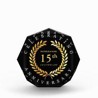 Récompenses En Acrylique Célébration du 15ème anniversaire. Personnalisable