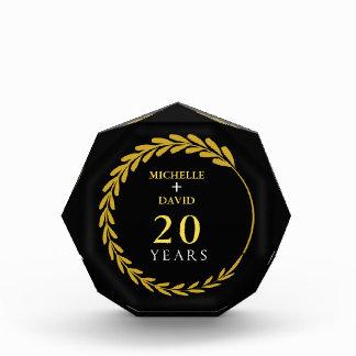 Récompenses En Acrylique Célébration du 20ème anniversaire. Personnalisable