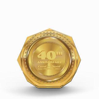 Récompenses En Acrylique Célébration du quarantième anniversaire.