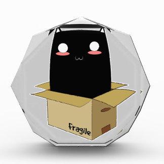 Récompenses En Acrylique Chat noir dans une boîte
