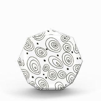 Récompenses En Acrylique Collection de concepteurs : points blancs noirs