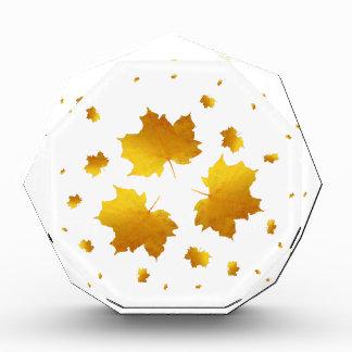 Récompenses En Acrylique Feuille d'érable d'or de miroitement