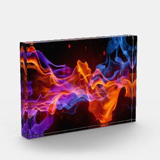 Récompenses En Acrylique Flammes colorées