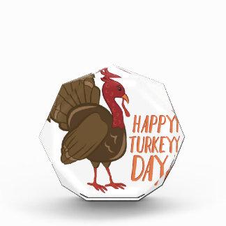 Récompenses En Acrylique Jour heureux de la Turquie