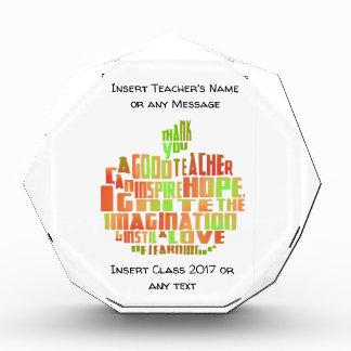 Récompenses En Acrylique Le souvenir Apple de cadeau de professeur citent