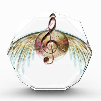 Récompenses En Acrylique Musique à ailes