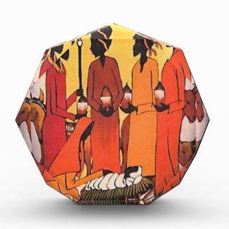 Récompenses En Acrylique Scène africaine de nativité de Noël